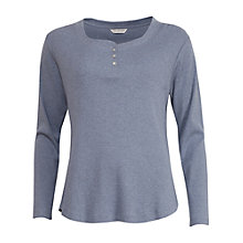 Buy Cyberjammies Timeless Elegance Long Sleeve Pyjama Top, Grey Online at johnlewis.com