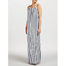 Buy Seafolly Verticle Stripe Jersey Maxi Dress, Indigo/White Online at johnlewis.com