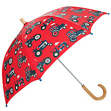 Buy Hatley Children's Farm Tractors Umbrella, Red Online at johnlewis.com