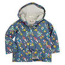 Buy Hatley Boys' Retro Rockets Raincoat, Blue Online at johnlewis.com