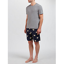 Buy John Lewis T-Shirt and Polar Bear Shorts Lounge Set, Grey/Navy Online at johnlewis.com
