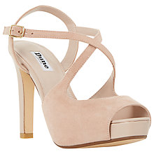Buy Dune Merry Cross Strap Stiletto Sandals, Blush Online at johnlewis.com