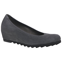 Buy Gabor Request Wide Wedge Heeled Pumps, Grey Online at johnlewis.com
