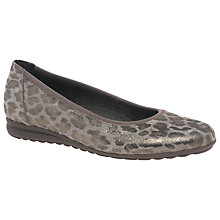 Buy Gabor Splash Wide Pumps, Leopard Online at johnlewis.com