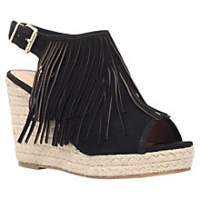 Buy Miss KG Peyton Fringed Wedge Heeled Sandals, Black Online at johnlewis.com