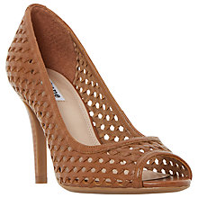 Buy Dune Claudet Cut Out Peep Toe Stiletto Sandals, Tan Online at johnlewis.com