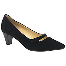 Buy Gabor Desiree Pointed Toe Court Shoes, Black Online at johnlewis.com