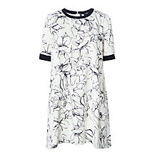 Buy Marella Arten Printed Crepe Satin Dress, Wool White Online at johnlewis.com