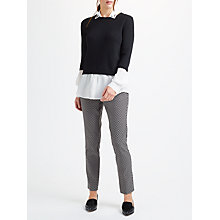Buy Marella Ivonne Jacquard Slim Trousers, Black/White Online at johnlewis.com