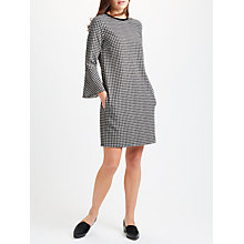 Buy Marella Lontra Relaxed Fit Check Dress, Black/White Online at johnlewis.com