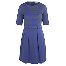 Buy Marella Deborah Houndstooth Dress, Royal Blue Online at johnlewis.com