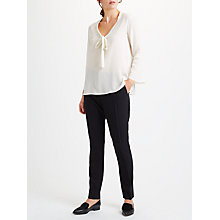 Buy Marella Giugno Silk Tie Blouse, White Online at johnlewis.com