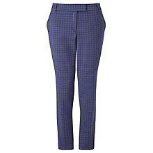 Buy Marella Ivonne Jacquard Slim Trousers, Royal Blue Online at johnlewis.com