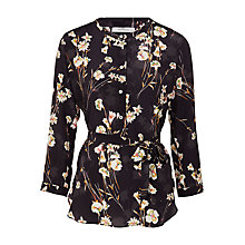 Buy Marella Padre Floral Print Silk Blouse, Multi Online at johnlewis.com