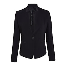 Buy Marella Pedina Crepe Satin Jacket, Black Online at johnlewis.com