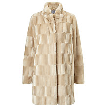 Buy Marella Tebe Faux Fur Coat, Honey Online at johnlewis.com