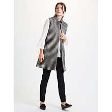 Buy Marella Spinta Check Waistcoat, Black/White Online at johnlewis.com