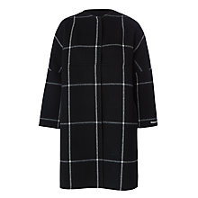 Buy Marella Serafin Wool-Blend Check Coat, Black Online at johnlewis.com