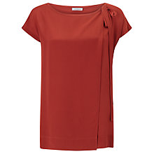Buy Marella Gilly Small Tie Silk Front Top, Cinnamon Online at johnlewis.com