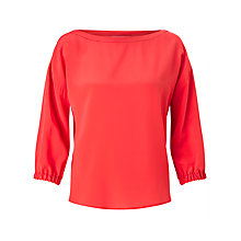 Buy Marella Victor Silk Blouse, Red Online at johnlewis.com