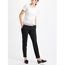 Buy Marella Lady Slim Leg Trousers, Black Online at johnlewis.com