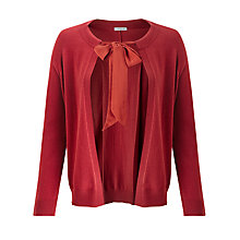 Buy Marella Melissa Silk Tie Cardigan, Cinnamon Online at johnlewis.com