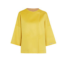 Buy Marella Parure Reversible Wool Cashmere Coat, Yellow Online at johnlewis.com