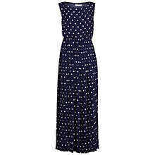 Buy Gina Bacconi Chiffon Spot Maxi Dress, Navy Online at johnlewis.com