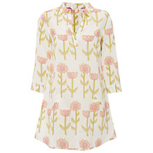 Buy White Stuff Behold Tunic Top, Linen Cream Online at johnlewis.com