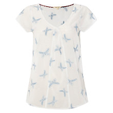 Buy White Stuff Butterfly Embroidered Top, Ivory/Cream Online at johnlewis.com