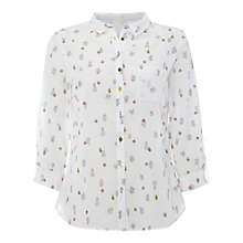 Buy White Stuff Cactus Embroidered Shirt, Cream Online at johnlewis.com
