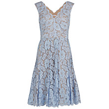 Buy Gina Bacconi V-Neck Scallop Floral Lace Dress, Perri Online at johnlewis.com