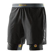 Buy Skins DNAmic Superpose Half Shorts, Black Online at johnlewis.com