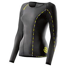 Buy Skins DNAmic Long Sleeve Top, Black Online at johnlewis.com