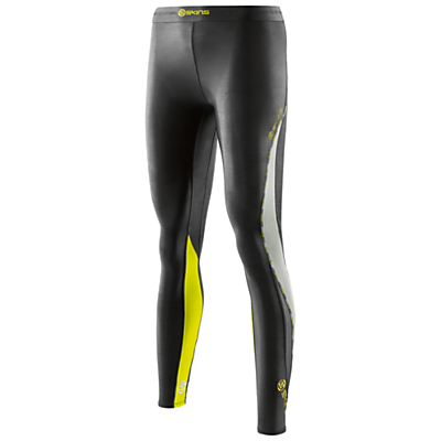 Skins DNAmic Long Tights, Black Limoncello