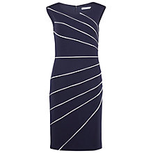 Buy Gina Bacconi Soft Ponti Dress With Contrast Piping, Nautical Navy Online at johnlewis.com