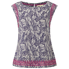Buy White Stuff Frida Print Top, Oceania Blue Online at johnlewis.com