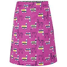 Buy White Stuff Love Llamas Skirt, Mexican Purple Online at johnlewis.com