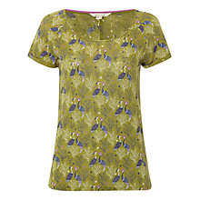 Buy White Stuff Excursion Linen Jersey Top, Pickle Green Online at johnlewis.com