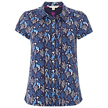 Buy White Stuff Frieda Jersey Shirt, Ocean Blue Online at johnlewis.com