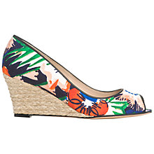 Buy L.K. Bennett Zelita Open Toe Wedge Court Shoes Online at johnlewis.com