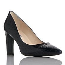 Buy L.K. Bennett Tess Block Heeled Court Shoes, Blue Croc Online at johnlewis.com