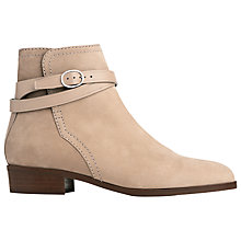 Buy L.K. Bennett Kadi Block Heeled Ankle Boots, Sand Online at johnlewis.com