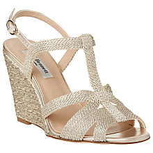 Buy L.K. Bennett Ripley Rope Wedge Heeled Sandals, Gold Online at johnlewis.com