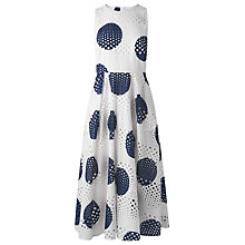 Buy L.K. Bennett Jane Eyelet Spot Dress, Blue/White Online at johnlewis.com