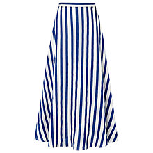 Buy L.K. Bennett Harpa Stripe Skirt, Blue/White Online at johnlewis.com