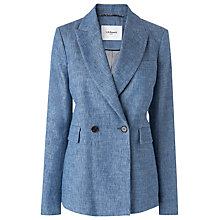Buy L.K. Bennett Enya Jacket, Light Denim Online at johnlewis.com