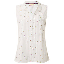 Buy White Stuff Geo Flower Shirt, White Online at johnlewis.com