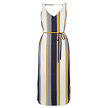 Buy Oasis Stripe Midi Dress, Blue/Multi Online at johnlewis.com