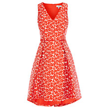 Buy Coast Jariney Jacquard Dress, Coral Online at johnlewis.com
